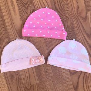 NWOT Baby Girl Hat Bundle